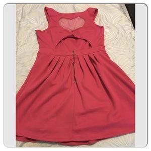 7995be85f8 Nanette Lepore Dresses - L Amour Nanette Lepore Pink Heart Cutout Dress